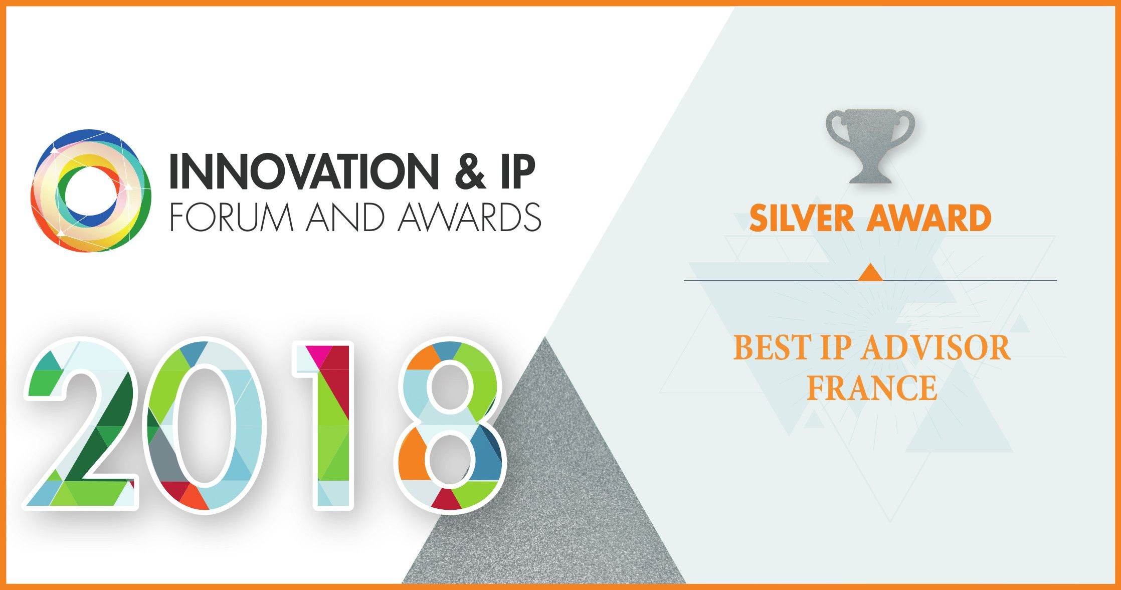 IPSIDE : Silver Award Best IP advisor France - 2018